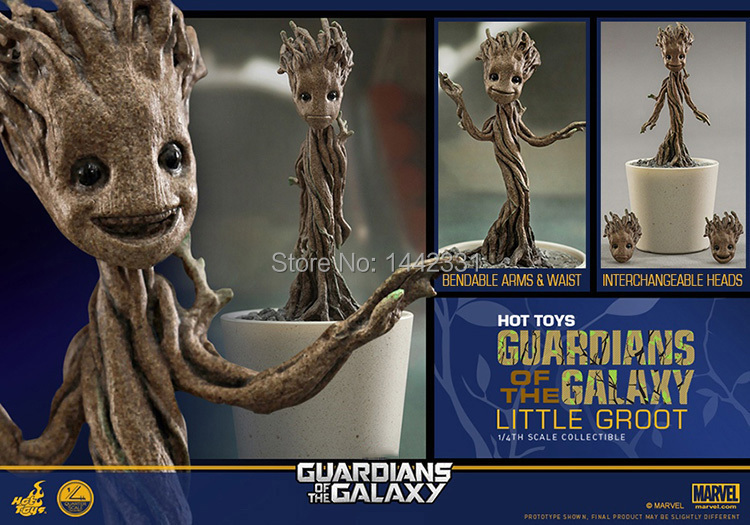 2015 Marvel Guardians of the Galaxy Groot Changeable Heads 1/4 scale 12cm Tree Toys PVC Action Figure anime brinquedos(China (Mainland))
