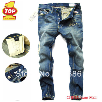 Hot ! Free shipping famous brand men's cotton fashion denim jeans pants 50% discount