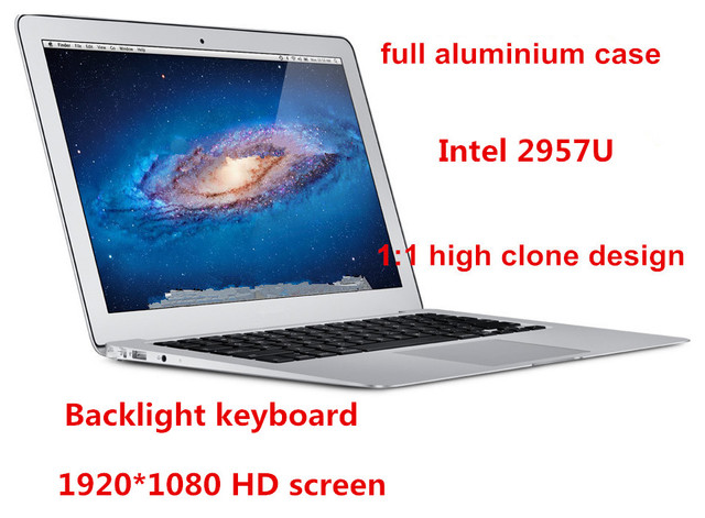 "13.3"" ultrabook laptop computer 1920*1080 HD screen Celeron 2957U dual core 4GB  128GB SSD backlight keyboard webcam WIFI"