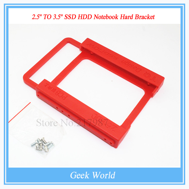 "Wholesale 10pcs/lot New 2.5"" TO 3.5"" SSD HDD Notebook Hard Disk Mounting Bracket Adapter Dock Holder For PC with 4pcs Screws"