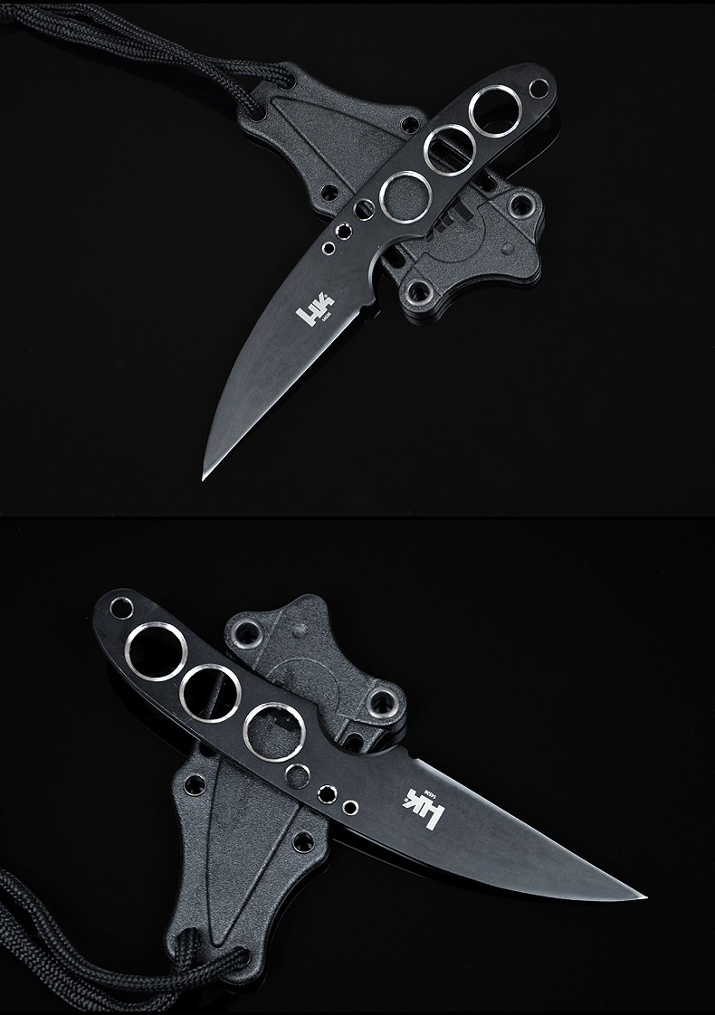 Buy Diving Knife  HK Fixed AUS-8 Blade Knife Camping Survival Pocket Hunting Tactical Knives With Leggings Outdoor Tools K98 cheap
