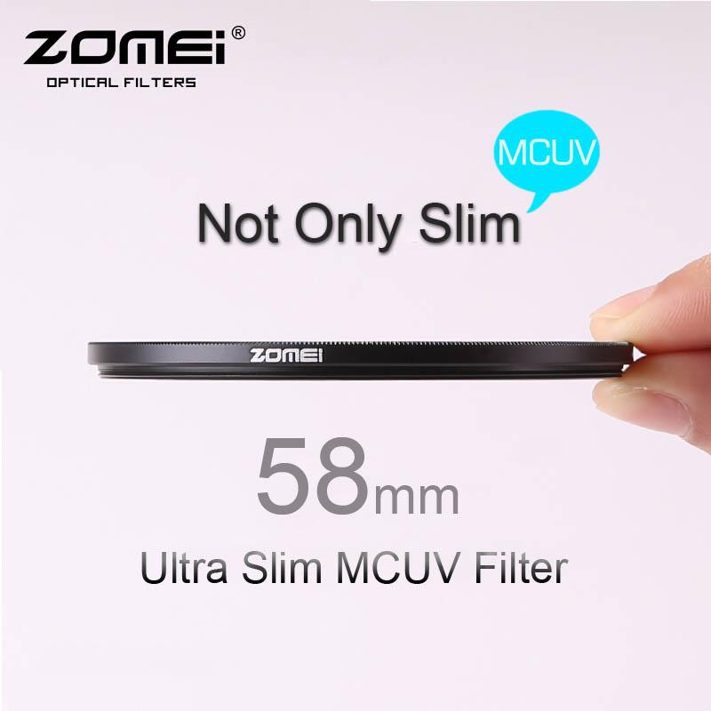 58mm ZOMEI PRO Ultra Slim MCUV 16 Layer Multi Coated Optical Glass MC UV Filter for Canon NIkon Hoya Sony DSLR Camera Lens 58 mm(China (Mainland))