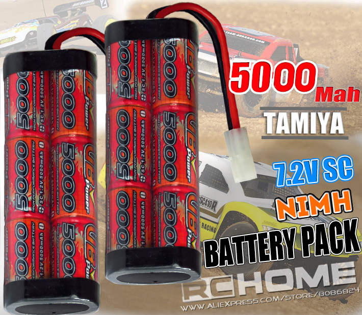 Brand New A+ Racing Level SC 5000Mah 6 Cell 7.2V Nimh battery pack w/ Tamiya Connector rechargeable rc battery 1/8 1/10 car use(China (Mainland))