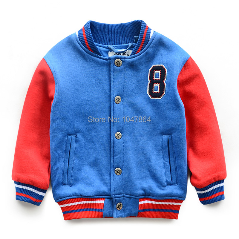 Children's clothing autumn baseball shirt 2014 child jacket color block decoration baby child male spring and autumn outerwear(China (Mainland))