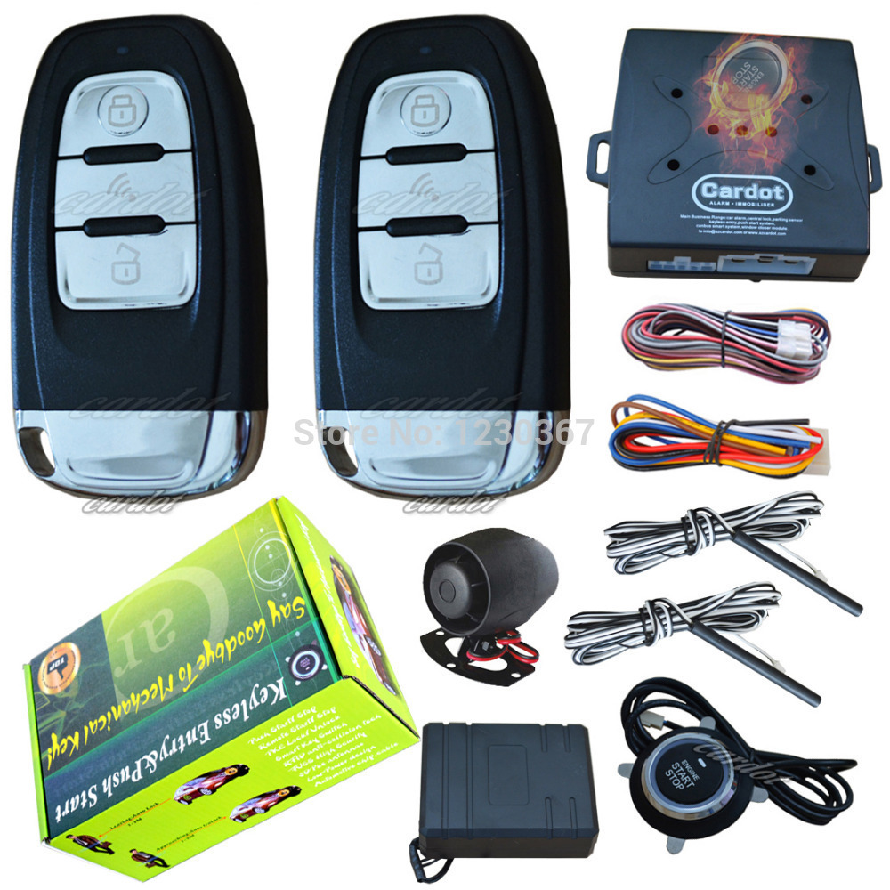 passive keyless entry&push start system with AD smart keys,hopping code protection,central lock automatication,bypass module(China (Mainland))