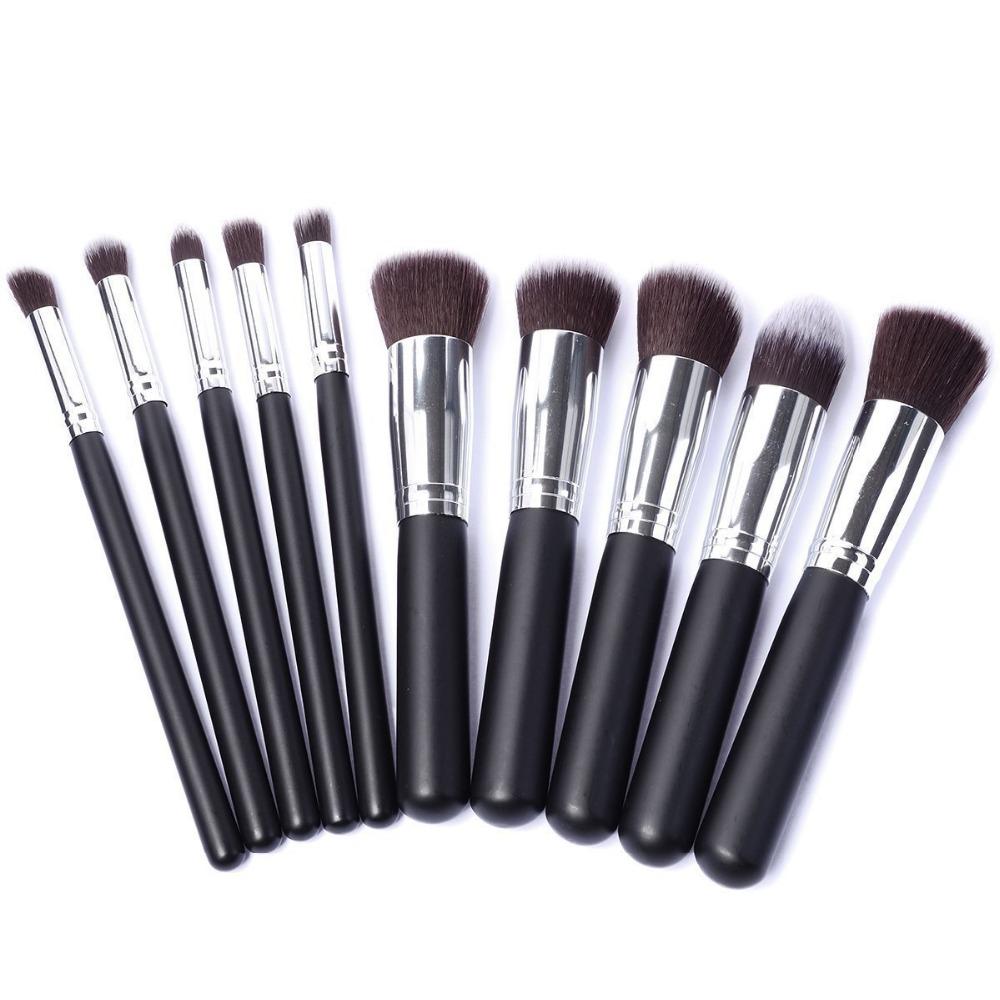 High Quality Maquiagem Makeup brushes 10PCS/LOT Beauty Cosmetics Foundation Blending Blush MC Make up Brush tool Kit Set(China (Mainland))