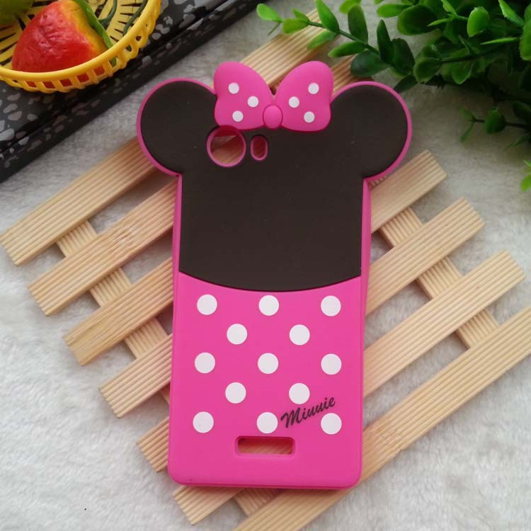 1PCS Wiko Ridge 4G Case 3D Cartoon Mickey Minne Mouse Soft Rubber Silicone Mobile phone Cases Back Covers Cell Phone Cases(China (Mainland))