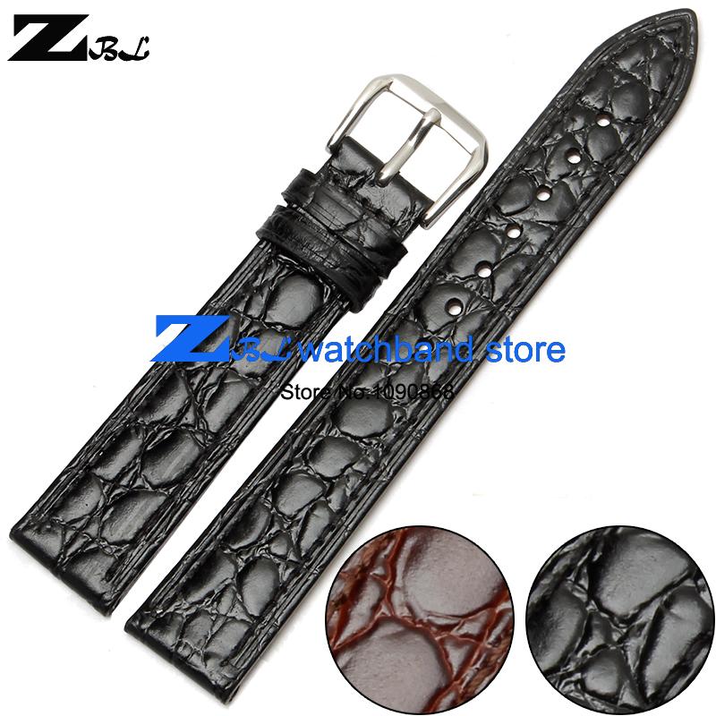 Ultra-thin Genuine leather watchband watch belt strap wristwatches band 10mm 12mm 13mm 14mm 16mm 18 20mm Round grain bracelet(China (Mainland))
