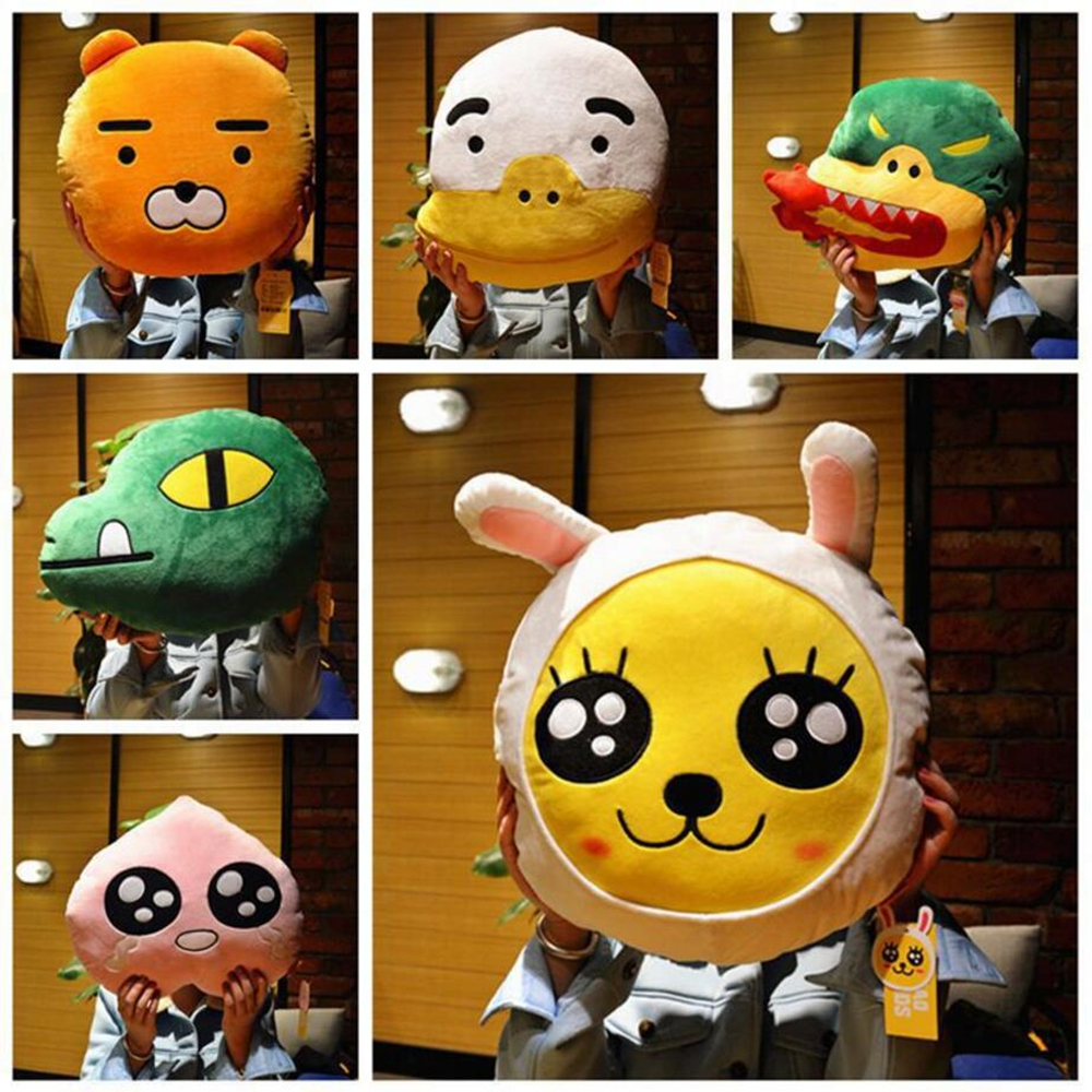 2016 Newest design Korea Cartoon faces Kakao frineds Kobito Ryan cushion Pillow 40*40cm Plush toys(China (Mainland))