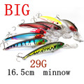 Big Games 29g 16 5cm Minnow fishing lures deepswim saltwater hard bait 3D eyes Plastic Crank