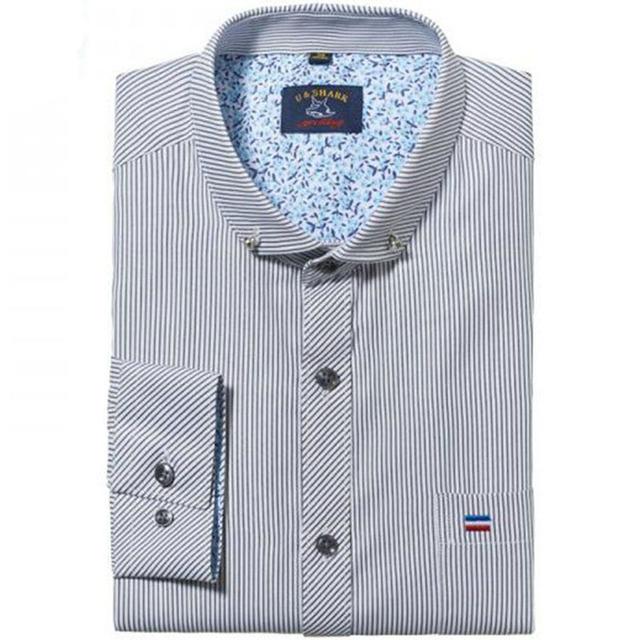 Осень мода мужские рубашки бизнес с длинным рукавом slim-подходят марка дизайн мужской ...