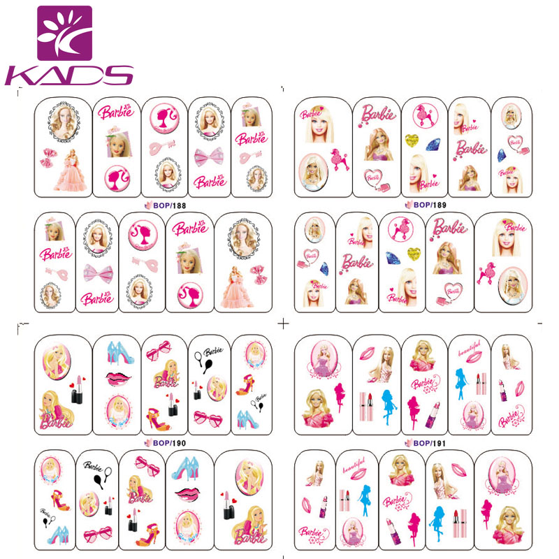 NEW ARRIVAL BOP188 191 princess nail stickers for nail sticker water beauty women finger nails stickers