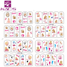 NEW ARRIVAL BOP188-191 princess nail stickers for nail sticker water beauty women finger nails stickers with cheap nail decals