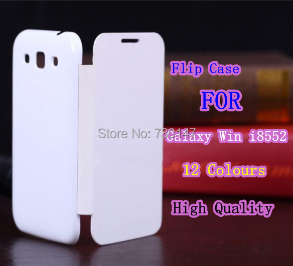 Quality 12 Colors Back Cover Flip Leather Case Battery Housing Samsung Galaxy Win i8552 - SHENZHEN KAYKAY TRADE CO., LTD store