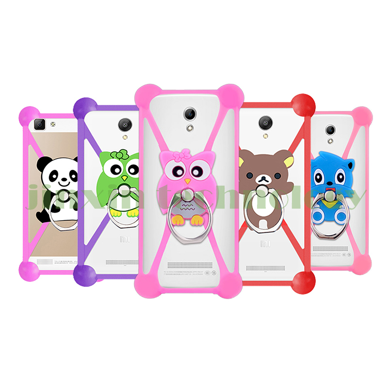Fashion New Cartoon Ring Stand Soft Silicone Case For Alcatel Idol 4 Cell Phone 3.5 - 5.5 Inch Bumper Frame Cover(China (Mainland))