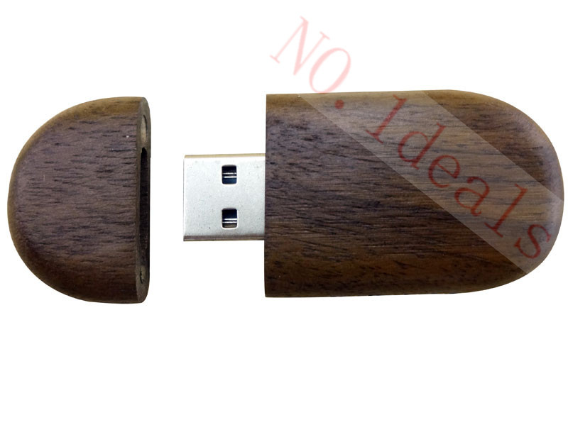 Oval Wooden 4GB/8GB/16GB/32GB USB disk 2.0 Flash Memory Stick Wooden USB Flash Drive Factory price free shipping(China (Mainland))