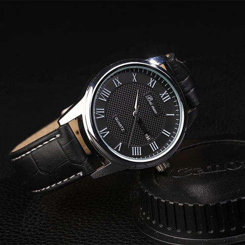 BeiNuo Top Brand New Arrival 2015 Leather Strap Men Sports Wristwatch Watches Men Montre Homme Marcas
