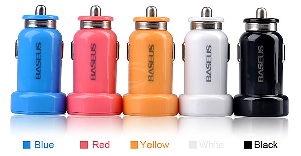 MFI Supplier BASEUS Portable Dual Ports USB Car Charger(China (Mainland))