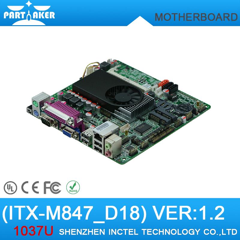 Mini Itx industrial motherboard Intel 1037U / 6COM/ Dual 24 bits LVDS/DC12V Power/ POS Machine industrial Mini ITX-M847_D18(China (Mainland))