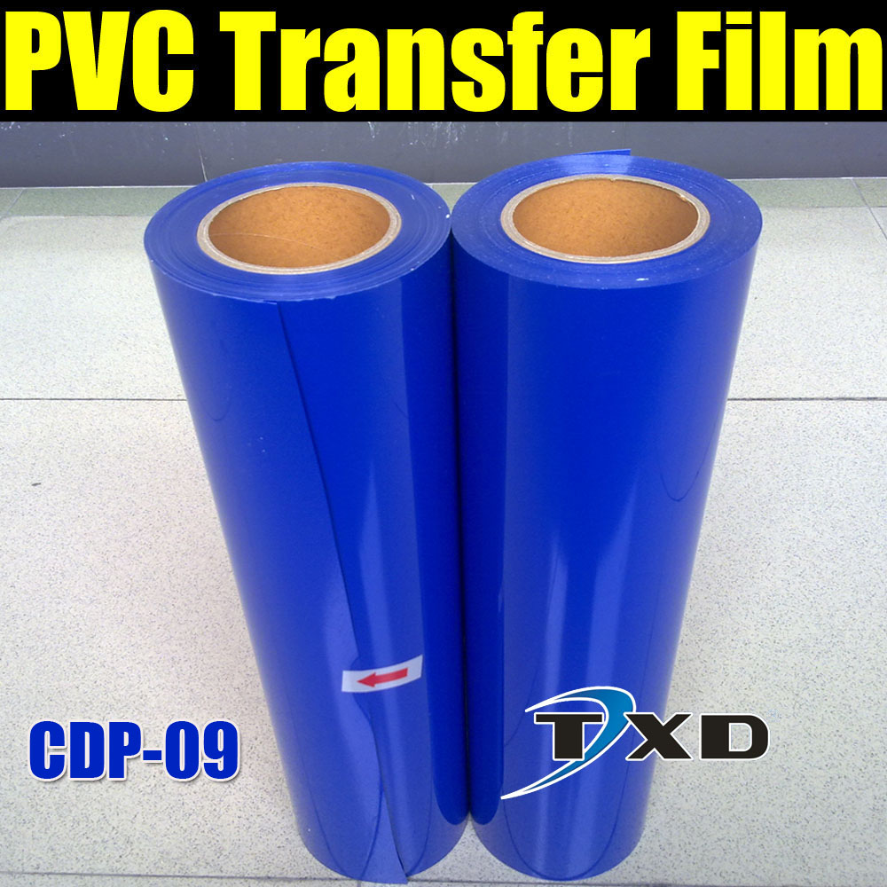 CDP-09 BLUE PVC heat transfer With Roll size: 50CMX25M/Roll BY FREE SHIPPING, BLUE PVC TRANSFER FILM(China (Mainland))