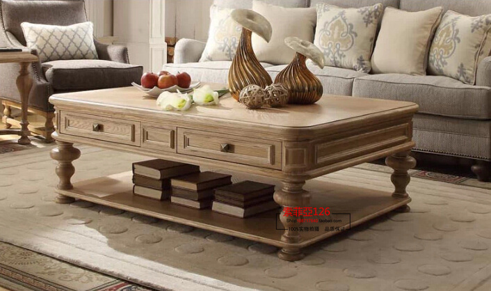 European French Country Style Coffee Table Living Room Coffee Table Can Be Customized Wood