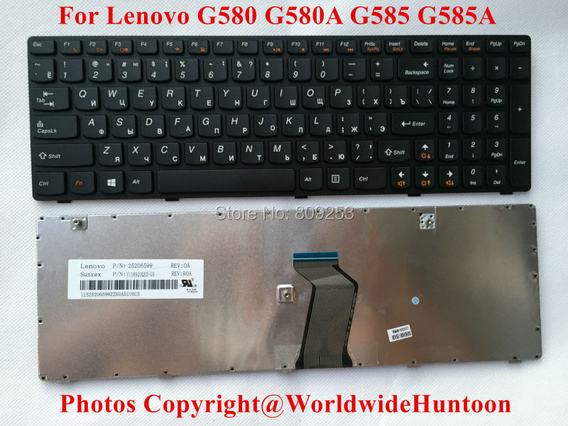RU/Russian Keyboard for Lenovo Ideapad G580 G580A G585 G585A laptop Keyboard RU layout 100% Original&Brand New 90days Warranty(China (Mainland))