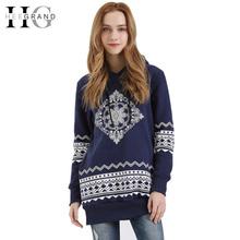Women Hooded Sweatshirt 2016 Spring New Casual Loose Geometric Printed Plus Size S-4XL Full Sleeve Long Hoodies Tops WWW556(China (Mainland))