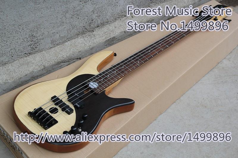 New Arrival Black Hardwares Fodera Yin Yang Standard 5 String Electric Bass Guitars For Sale(China (Mainland))