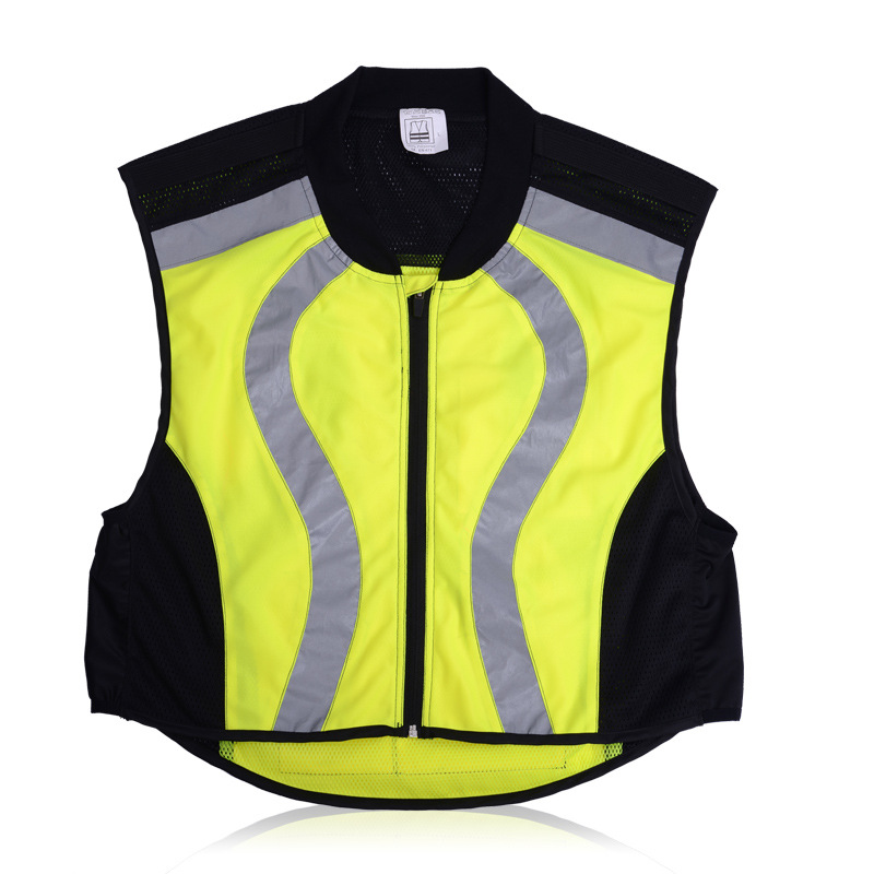 Motorcycle Car Reflective Safety Clothing High Visibility Safety Reflective Hi Viz Vest Warning Coat Reflect Stripes Tops Jacket(China (Mainland))