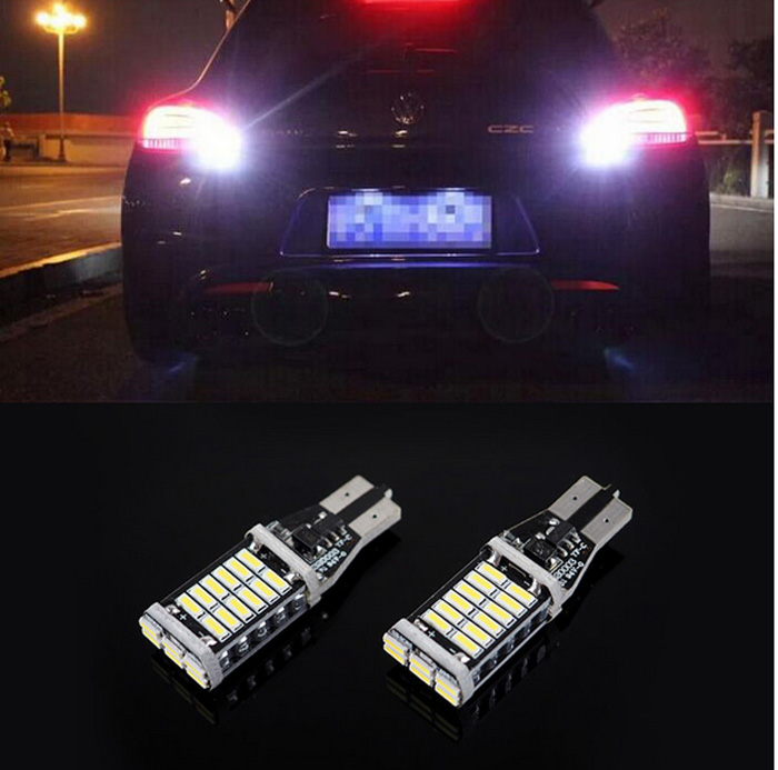 2pcs T15 W16W led error free 4014 30SMD car styling Backup Reverse Light Mercedes Benz E-Class E350 E550