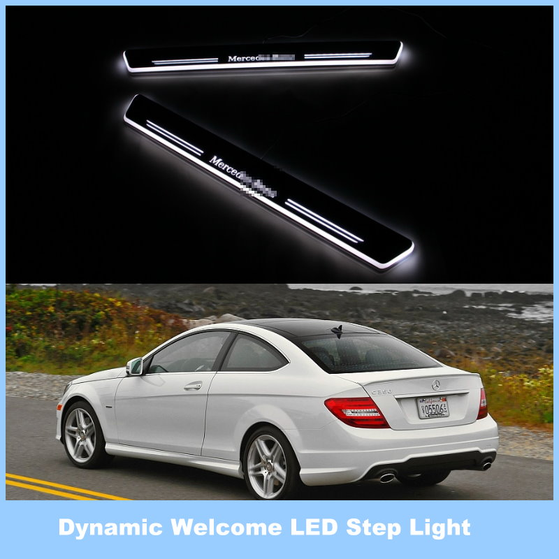 For Mercedes Benz C180 C200 C280 C300 C350 / Ynamic Pedal Lights, Streamer Lamp Stylish Cool LED Step Light, Door Welcome Lamp<br><br>Aliexpress