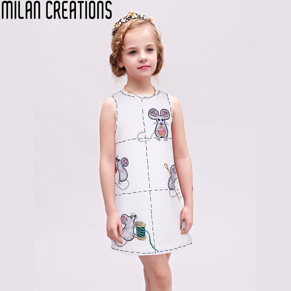 Girl Dress Robe Fille Enfant 2016 Brand Princess Dress Toddler Clothing Children Mouse Pattern Kids Dresses for Girls Clothes(China (Mainland))