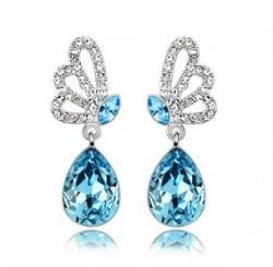 Самая низкая ювелирные изделия ушных капель, Посеребренная ювелирных изделий кристалл серьги для женщин - A50