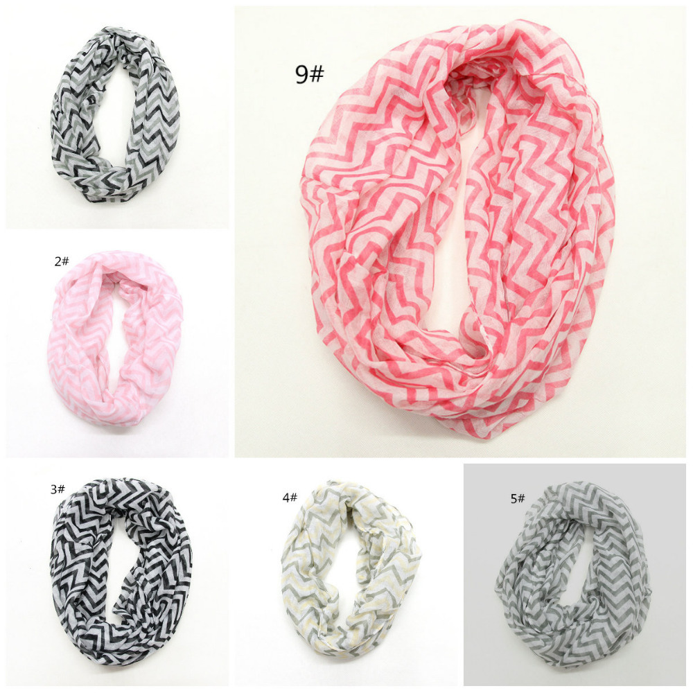 2015 foreign trade fashion pure and fresh temperament fine double color stripe wave lines voile scarf scarf spot(China (Mainland))