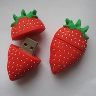 Usb flash drive 16g strawberry cartoon usb flash drive personality girls usb flash drive usb flash drive