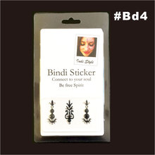 #BD4 High Quality Black Bindi Sticker Handpicked gypsy Style forehead deco Temporary Tattoo Stickers Surprise Value Buy!(China (Mainland))