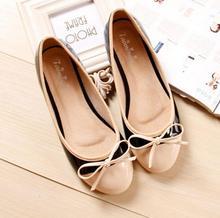 2016 new Fashion womens shoes Ballet ballerina sapatilhas Princess Round toe women Flats slip on Lining Leatherflat shoes