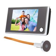 2016 3.5 inch LCD Touch Screen Door Viewer 120 Degree Digital Doorbell Peephole Viewer Door Eye Doorbell Color IR  Door Camera(China (Mainland))