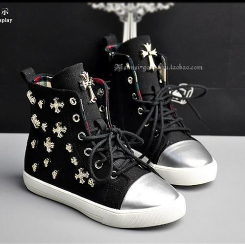 2015 spring new Kids Children's shoes canvas help Boys Girls sport cross rivets sneakers - Hangzhou Dolda Tech. Co., Ltd. store