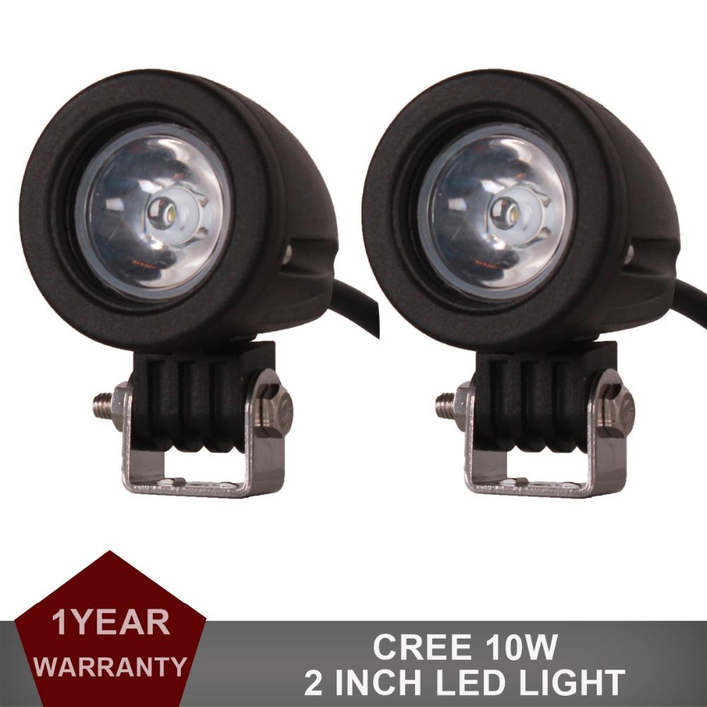 1Pair CREE 10W LED Work Light Offroad Car Auto Truck ATV Motorcycle Trailer Bicycle Fog Lamp Spot Flood Beam Driving Headlight(China (Mainland))