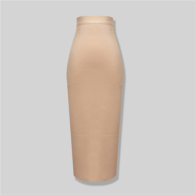 Free Fast SТазping Женщины Fall 2015 Nude Knee Длина Bandage Skirts DropsТазping