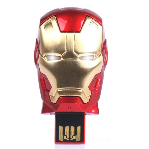 Avengers Iron Man Metal Usb Flash Drive 64GB 512GB 128GB USB 2.0 Flash Memory Stick Drive Pen Drive 1TB 2TB Pendrive Gift Key(China (Mainland))