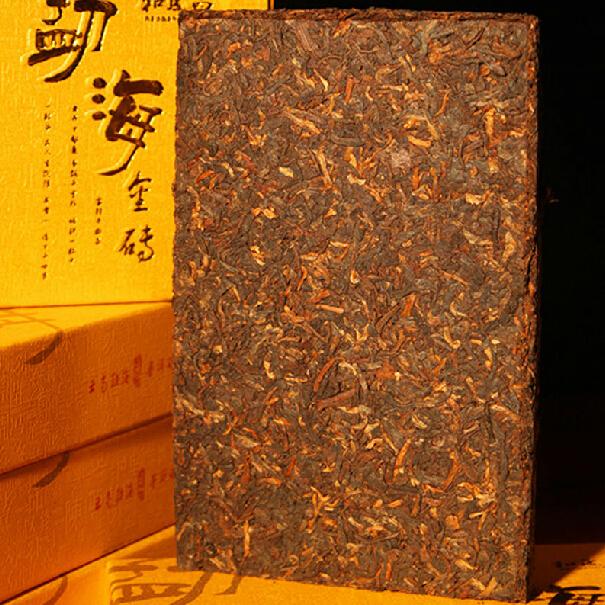 250g Yunnan Pu er ripe puer tea brick pu er tea Menghai grade gold shoots raw