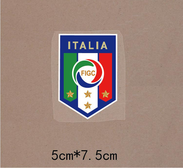 ZQ32 Italian football team superscript, thermal transfer offset temperature can customize a blank T-shirt Heat Transfer(China (Mainland))
