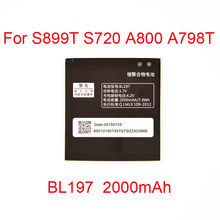 2000mAh Full Capacity Original battery for Lenovo a820 S889T S720 A800 A798T Battery BL197  MTK6577 MTK6589 mobile phone