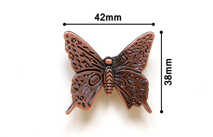 Гаджет  43mm Antique butterfly drawer handle knob Kitchen Cabinet cupboard door Furniture Handle Kids Children Knobs Pulls None Мебель