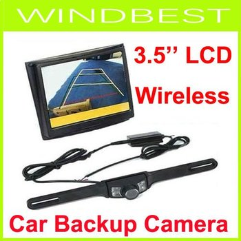 """3.5"""" Wireless LCD Monitor Car Rear View Security Parking Reversing Camera System free shipping"""