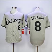 #8 Bo Jackson White Sox Jersey, 1991 1993 Bo Jackson Mens Chicago White Sox Throwback Baseball Jerseys Black White Gray(China (Mainland))