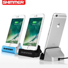 SHIMMER Sync Data USB Cable Charger Dock Stand Station Cradle Charging Dock Station For Apple iPhone 7 SE 5 5S 5C 6 6S Plus(China (Mainland))