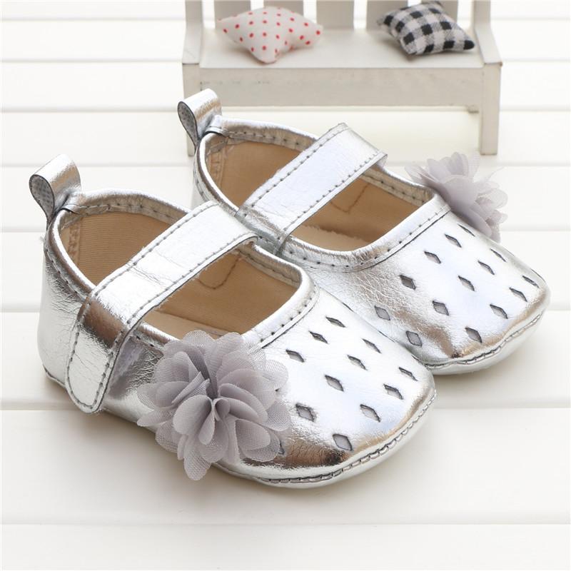 Babies shoes for baby girl chaussures fille soft sole flower Diamond PU Silver meisjes schoenen scarpe neonata zapatos ninas <br><br>Aliexpress